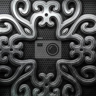 Silver ornamental plate