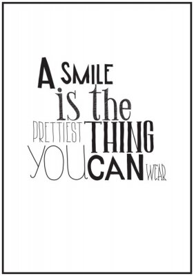 Sticker Simple affiche en noir et blanc avec une expression de motivation