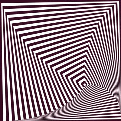 Sticker Simple, résumé, rayé, pyramidal, fond Illusion d'optique