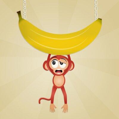 Sticker Singe à la banane