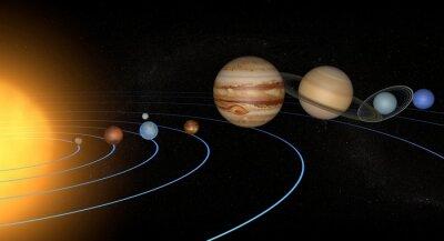 Sticker Sistema solare pianeti spazio universo unique