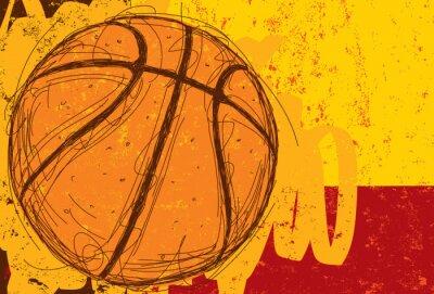Sticker Sketchy Contexte Basketball
