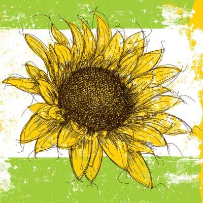 Sticker Sketchy Sunflower