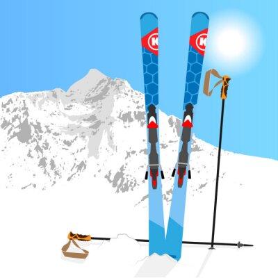 Sticker Ski et snowboard Reste 01
