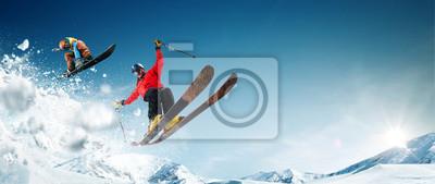 Sticker Ski. Le snowboard. Sports d'hiver extrêmes
