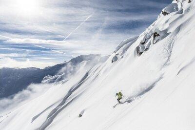 Sticker Ski libre descente