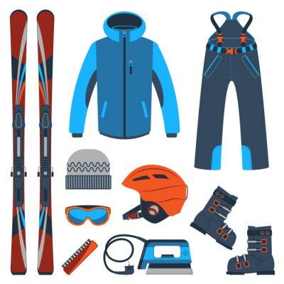 Sticker Ski. Sports extrêmes d'hiver.