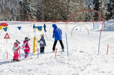 Sticker Skiing lessons for children at ski resort Krasnaya Polyana Russia