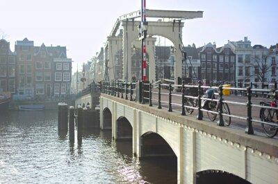 Sticker Skinny célèbre pont, Amsterdam