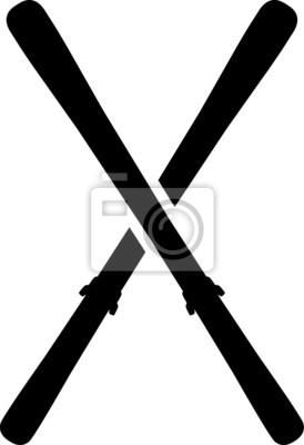 Skis Crossed Symbole