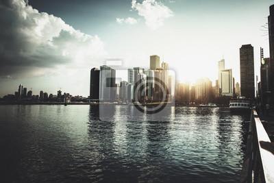 Skyline de Chicago et lac Michigan