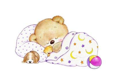 Sticker Sleeping Bear Teddy