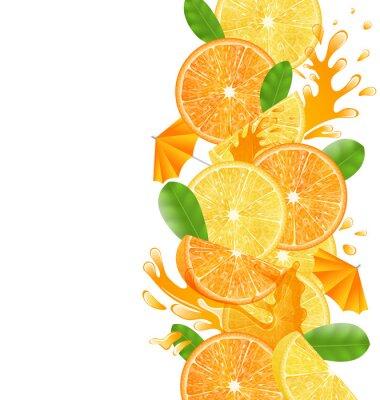 Sticker Sliced Oranges and Lemons