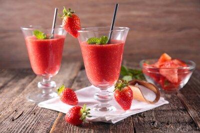 Sticker smoothie à la fraise