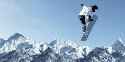 Sticker Snowboard le sport