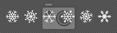 Sticker Snowflake set on isolated background. Winter pattern snow ornament vector design. Frost background. Christmas icon. Vector illustration