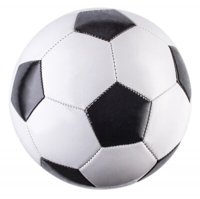Sticker Soccer ball isolated on white background