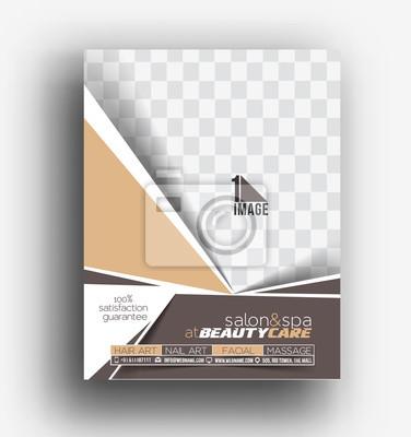 Soins De Beaute Salon Front Back Flyer Poster Template