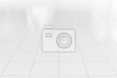 Sticker Sol de carrelage blanc avec ligne géométrique pour l'arrière plan.