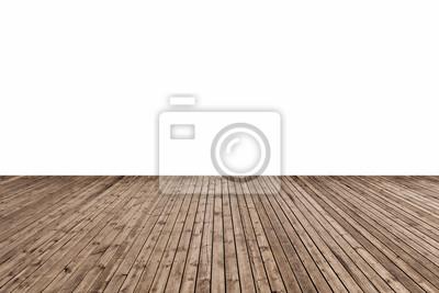 Sticker Sol en bois isolé