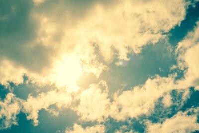 Sticker Soleil perçant les nuages