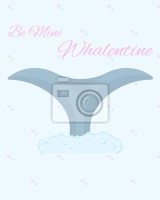Sticker Soyez ma carte postale de Whalentine