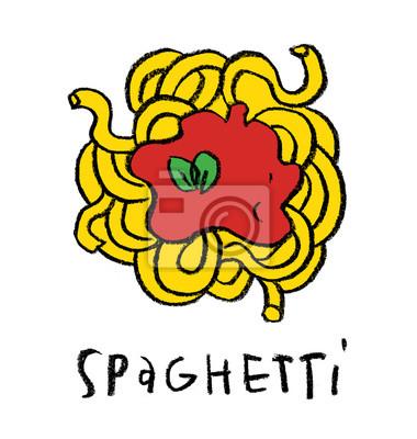 Spaghetti stylisé