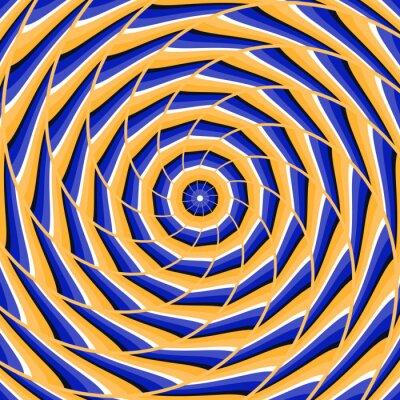 Sticker Spirale en torsion au centre. Résumé, vecteur, optique, illusion, fond.