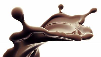 Sticker splash de chocolat