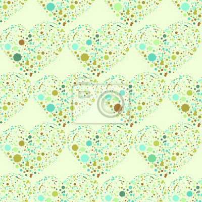 Splatter, coeurs, seamless, surface, modèle