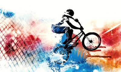 Sticker Sport illustration of bmx rider