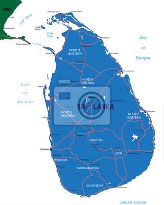 Sri Lanka carte