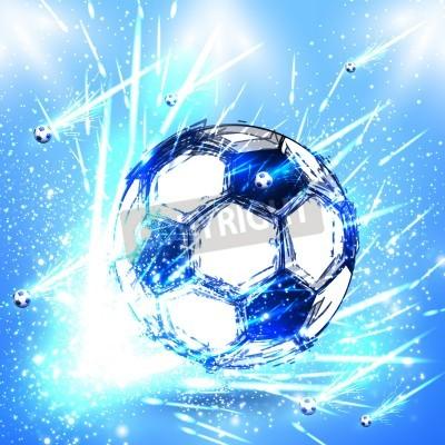 Sticker stade de football de lumière