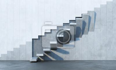 Sticker stairs leading upward