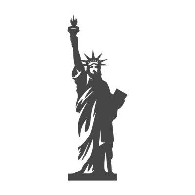 Sticker Statue de la Liberté icon - Illustration
