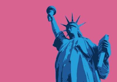 Sticker Statue de la Liberté - New York - symboles, Américain - décoration - déco - fond