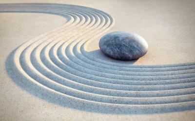 Sticker Stone et lignes dans le sable