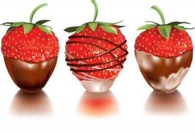 Sticker Strawberry dans un liquide