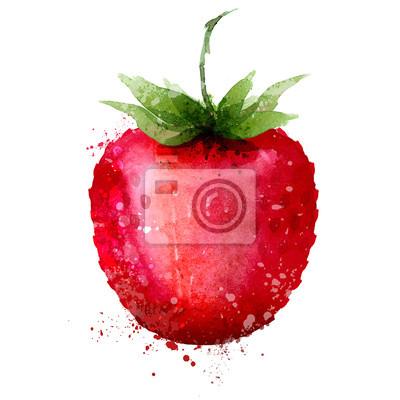 Strawberry modèle de conception vecteur de logo. Berry ou l'icône de la nourriture.