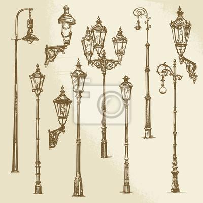 Sticker Street lamp ensemble