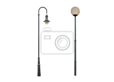 Sticker street lamp post isolated on white background