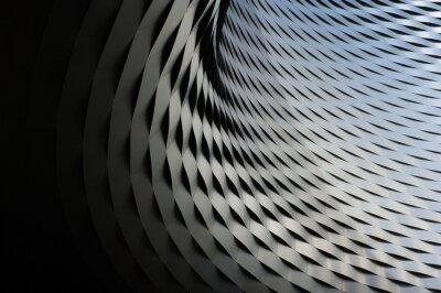 Sticker Structure métallique abstraite avec fond de motif répétitif