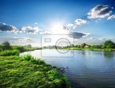 Sun sur la rivière