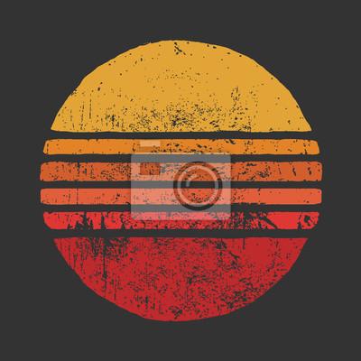 Sticker SUN Vintage Circle IllustrationsBasic RGB