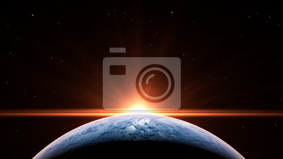 Sticker Sunrise over Earth
