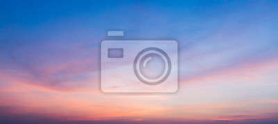 Sticker sunset sky with clouds background