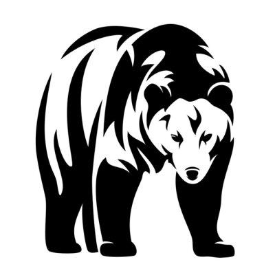 Sticker supporter design noir et blanc