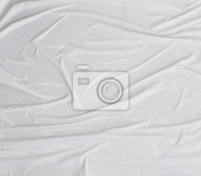 Sticker surface blanche ridée abstraite, panneau d'affichage, affiche