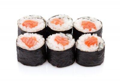 Sticker Sushi maki au saumon