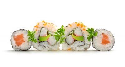 Sticker sushi maki de saumon et california rolls